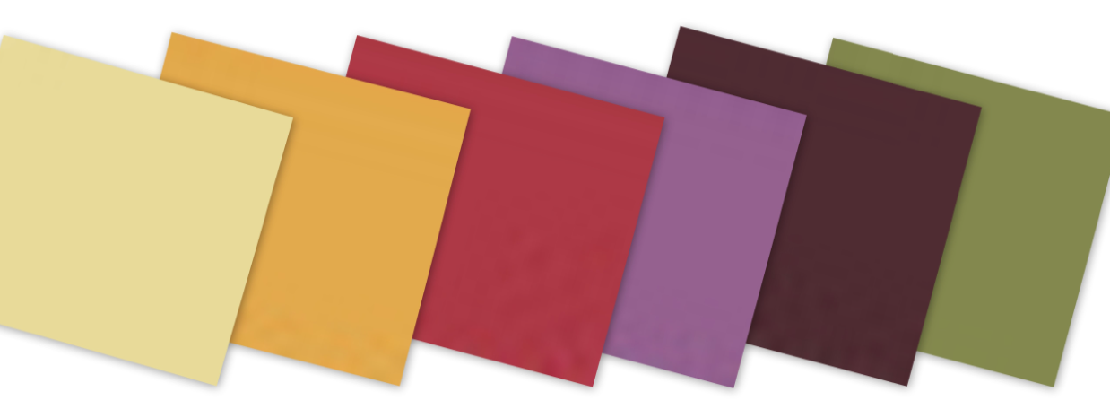 Pantone colors left to right Endive Golden Glow Lipstick Red Purple