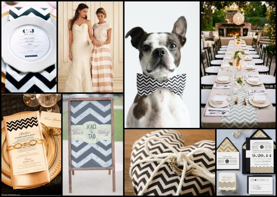 Clockwise, from top left: The Inspired Bride, Martha Stewart Weddings, Little Blue Feathers, Juxtapost, Paper Source, Sweet Sorella, Joie Lala Photography, Style Unveiled